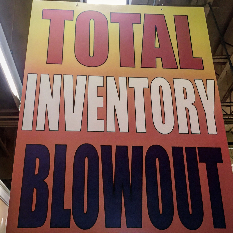Bankruptcy signage